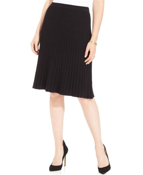 jones new york signature plus size pleated aline skirt in
