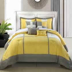 King Size Bedding Yellow Minimalist Bedroom With Yellow Grey Embroidery Comforter