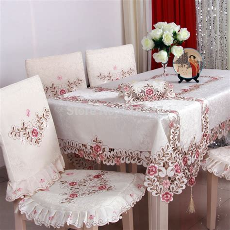 Handmade Table Linens - sale polyester satin jacquard embroidery
