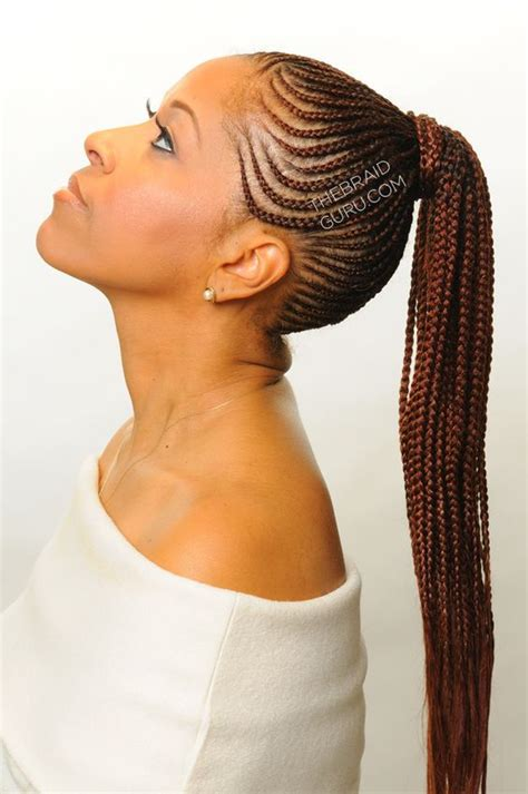cornrow into ponytail designs 16 feed in cornrow and cornrow braid styles we are loving