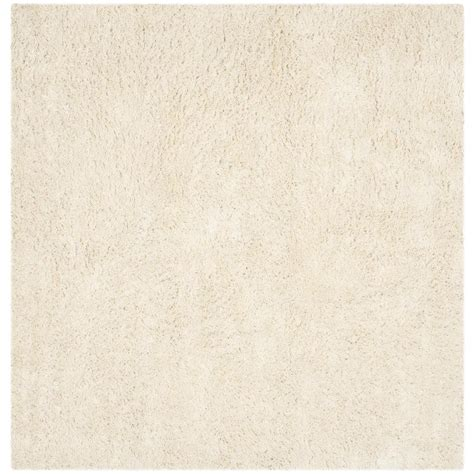 Square Area Rugs 9 X 9 Safavieh Classic Shag Ultra Ivory 9 Ft X 9 Ft Square Area Rug Sg240v 9sq The Home Depot