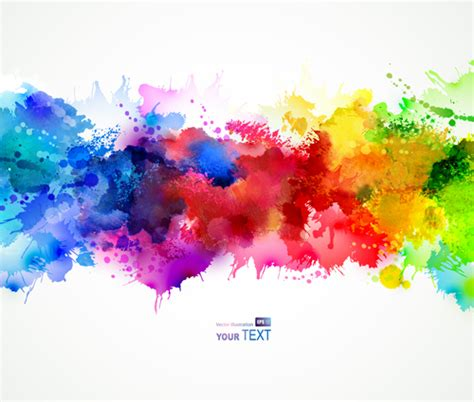 multicolor watercolor splash background illustration vector 04 free free