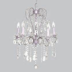 lavender 5 light whimsical beaded chandelier by jubilee