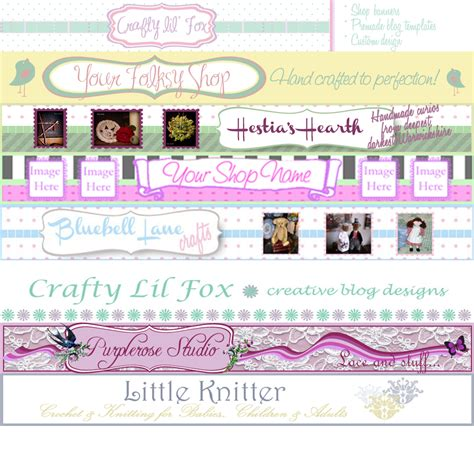 etsy banners free templates free etsy banner template