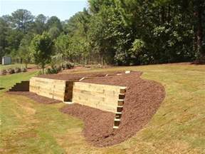 Landscape Timbers 6x6 6x6 Wood Retaining Wall Pictures To Pin On