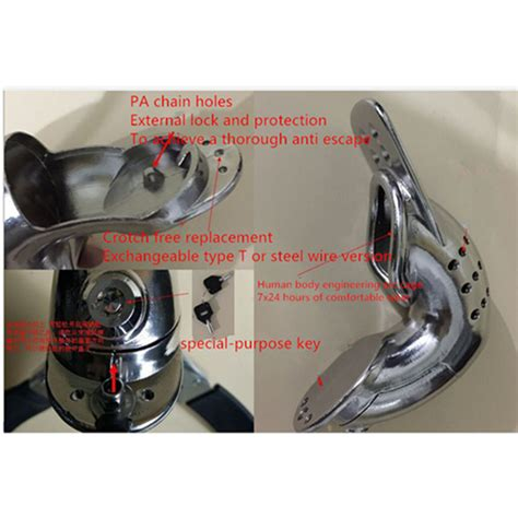 most comfortable chastity male double steel wire stainless steel most comfortable