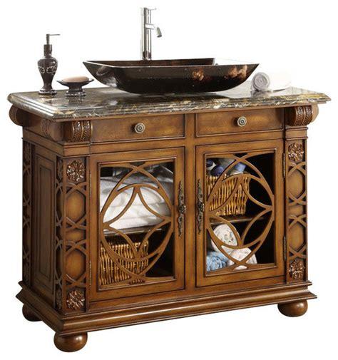 traditional sink bathroom vanity vigo bathroom vanity with vessel sink 42 quot traditional