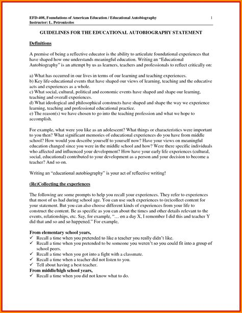 Educational Autobiography Essay by 10 Educational Autobiography Template Defense