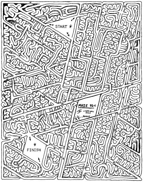 complicated coloring pages for adults andrew bernhardt s modern printable mazes for 7 year olds vignette math