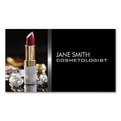 Makeup Artist Cosmetologist Cosmetology Elegant Business Card Elegant Business Cards Business Cosmetologist Business Card Templates