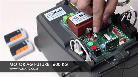 programar mando a distancia garaje programar motor puerta corredera ag future1600 kg