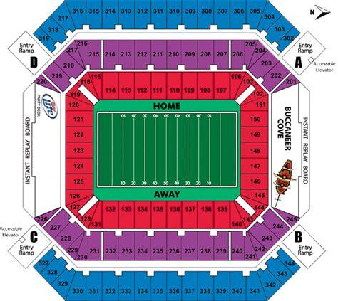ta buccaneers stadium seating raymond stadium map images