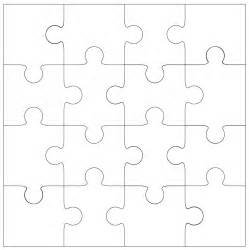 Jigsaw Puzzle Template by 16 Jigsaw Cut File Template