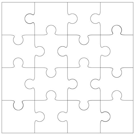 16 piece jigsaw cut file template