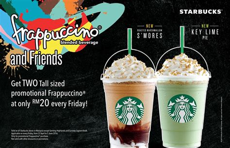 Coffee Starbuck Malaysia starbucks two sized promotional frappuccino rm20 promotion