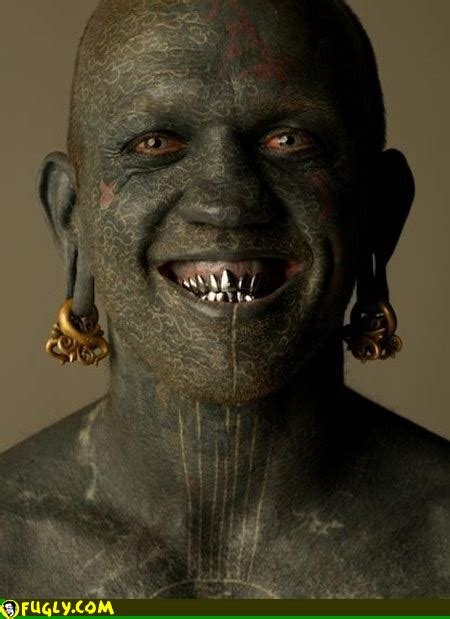most tattooed man some of the scariest s
