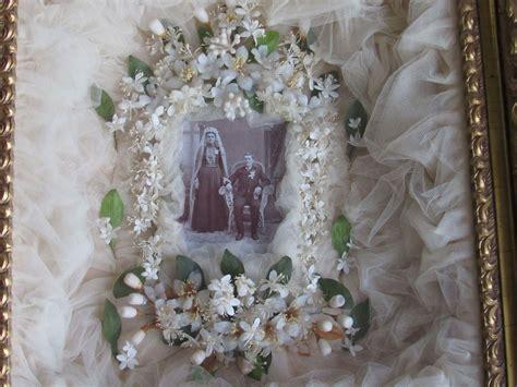 Wedding Veil Box by Wedding Shadow Box W Wax Tiara Corsages Veil