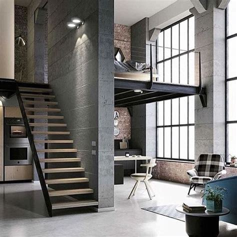 industrial living area design ideas with wooden high ceiling 100 fotos de lofts decorados para inspirar voc 234
