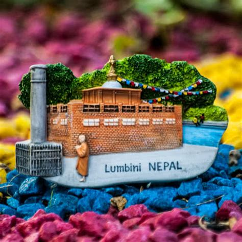 resin fridge magnet nepal lumbini