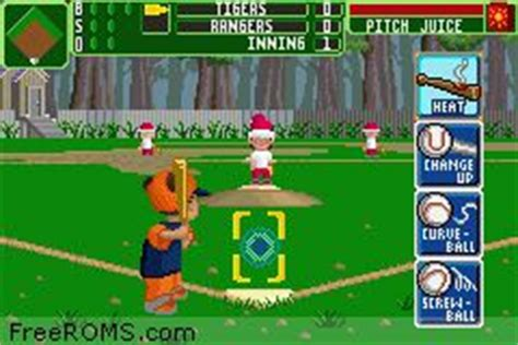 backyard baseball gba gameboy advance backyard baseball 2006 rom