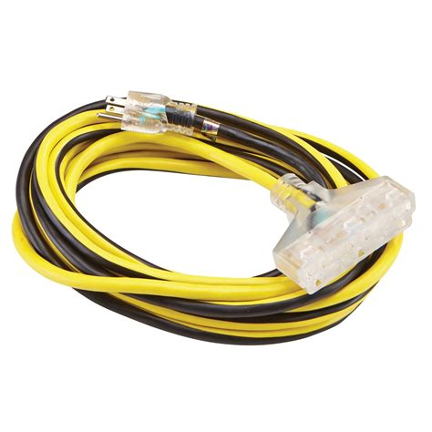 25 ft x 12 gauge multi outlet extension cord with