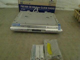 sony icfcdk50 under cabinet kitchen cd clock radio sony kitchen under cabinet clock radio cd ipod am fm icf
