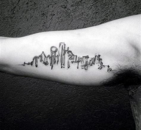 city skyline tattoo 70 city skyline designs for downtown ink ideas