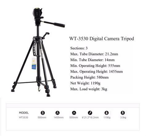 Sale Weifeng Portable Tripod Wt 695 Black professional tripod for digital dslr camcorder