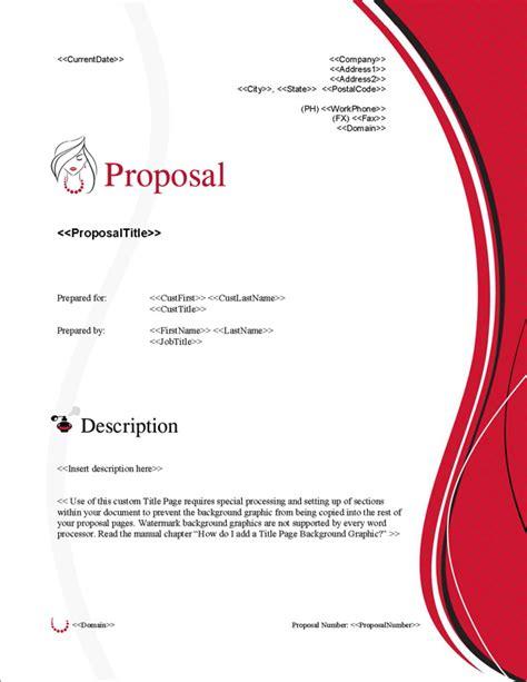 layout untuk proposal proposal pack fashion 3 software templates sles