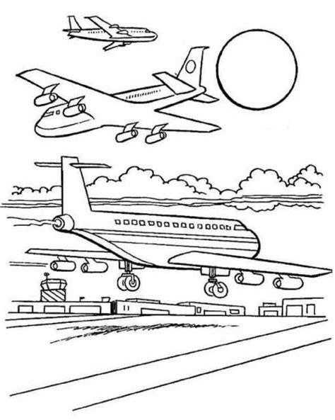 gambar mewarnai pesawat terbang gambar mewarnai