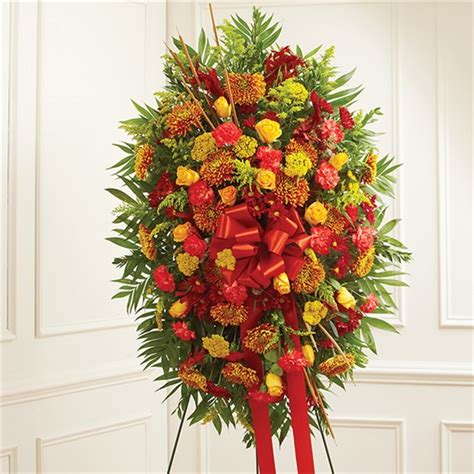 funeral colors 1 800 flowers 174 sympathy standing spray in fall colors