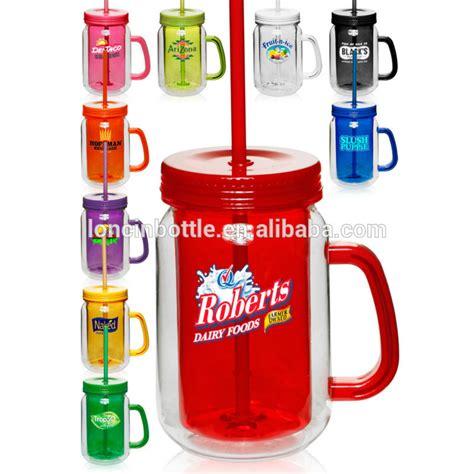 Tumbler Costum Murah Arniss 500ml 20 oz acrylic jar with lid straw plastic jar tumbler personalized plastic