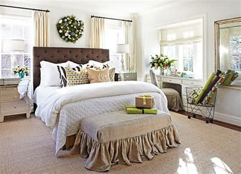 fresh and modern christmas master bedroom design