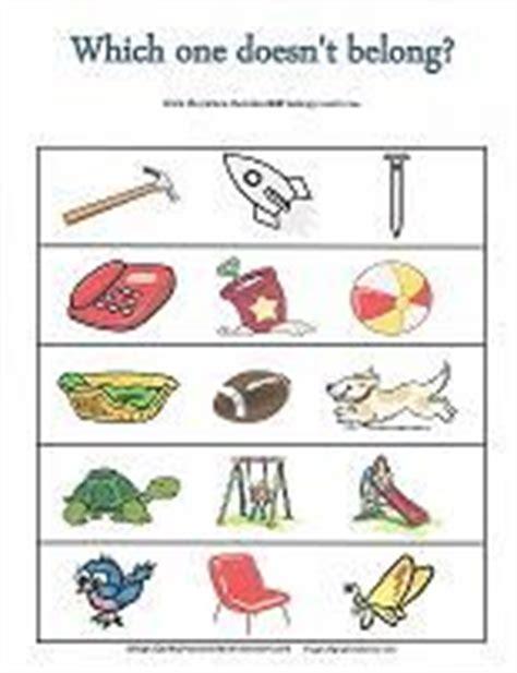 what doesn t belong learning preschool worksheets