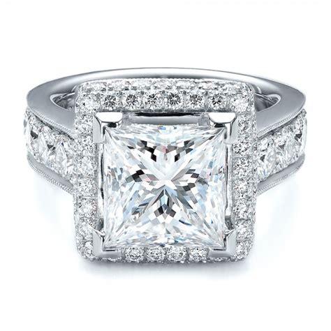 halo ring princess cut halo ring
