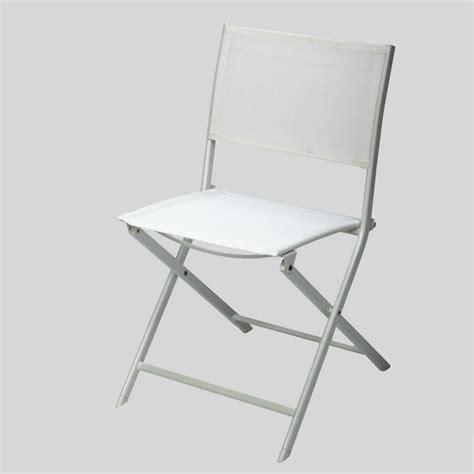 chaise pliante blanche en acier achat vente fauteuil