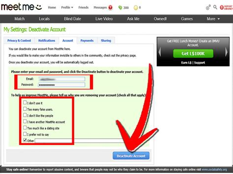 Search Meetme How To Delete Your Meetme Account 5 Steps With Pictures