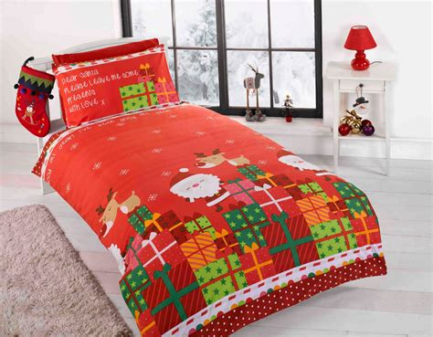 christmas bedding sets christmas xmas single quilt duvet cover p case bed set