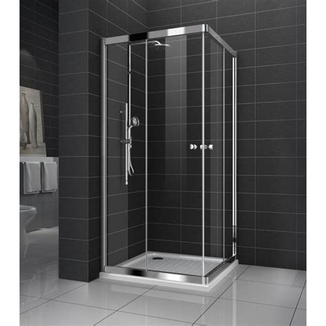 Shower Screens Doors Genoa New Square Sliding Doors Shower Screen With Base 8 Mm Glass 800 X 800 X 1950