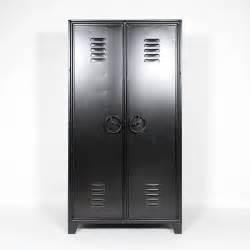 armoire industrielle m 233 tal noir style casier made in meubles