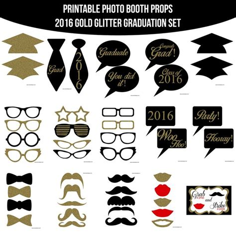 printable photo booth props new years 2016 46 best images about graduation party on pinterest