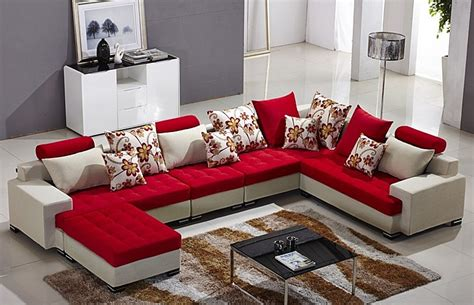 modern home furniture l shape fabric sofa set designs