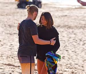 star and car pia miller pia miller shares hug with home and away s george mason