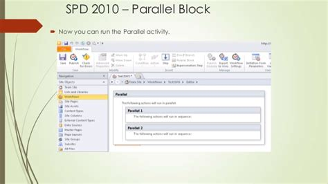 sharepoint 2010 workflow parallel block using workflows in point 2010