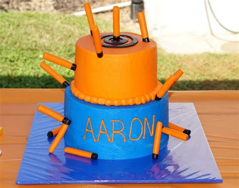 Nerf Cake With Bullets   CakeCentral.com