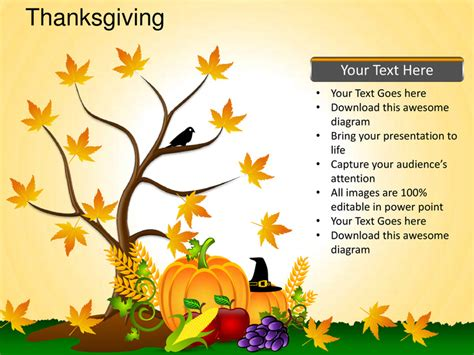 thanksgiving powerpoint template thanksgiving celebrations festivals turkey powerpoint