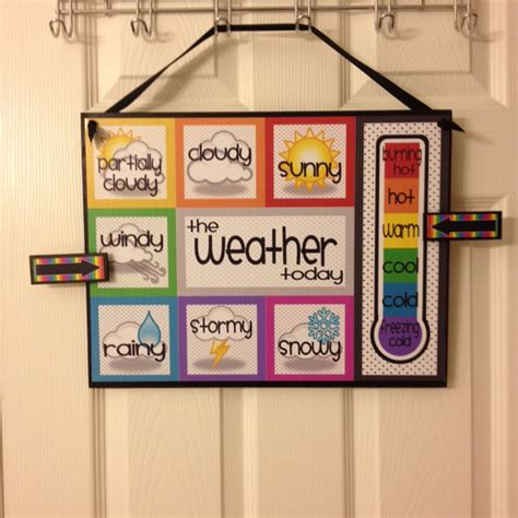 Esl Classroom Decoration Ideas by Weather Chart Rowdy In Room 300