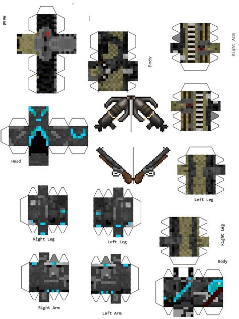 Minecraft Papercraft Weapons - papercraft randompak0