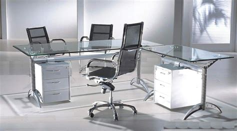 L Shaped Glass Office Desk Maintaining Glass Office Desk Furniture