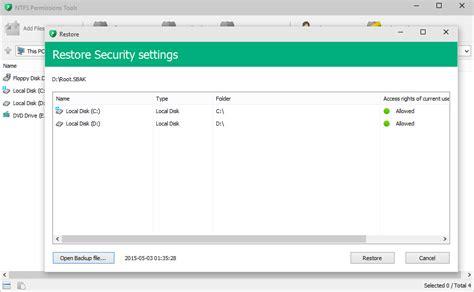 reset permissions tool ntfs permissions tools 1 3 0 129 pcrestore it